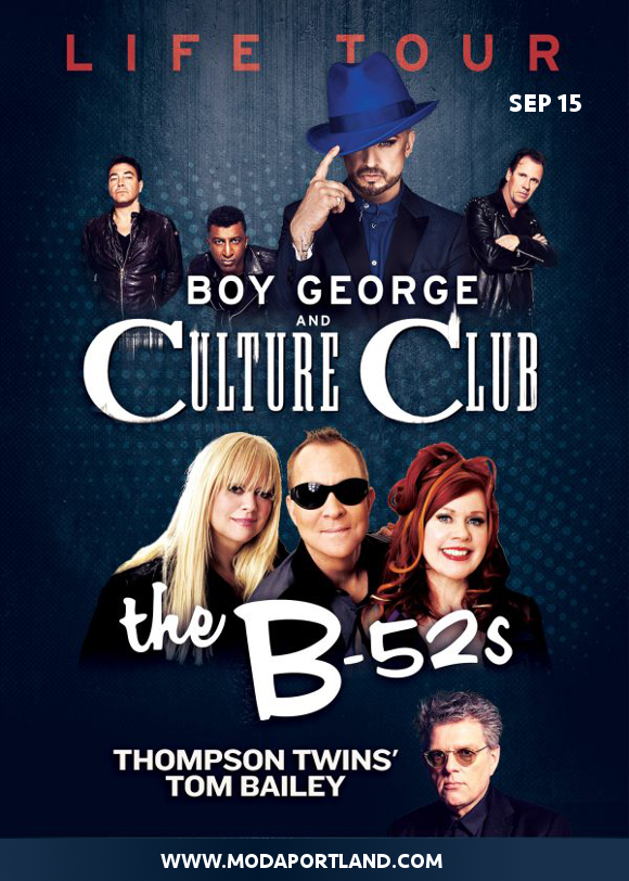 Boy George, Culture Club & The B-52s at Moda Center
