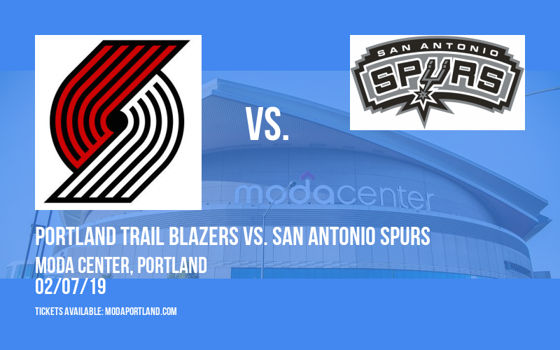 Portland Trail Blazers vs. San Antonio Spurs at Moda Center