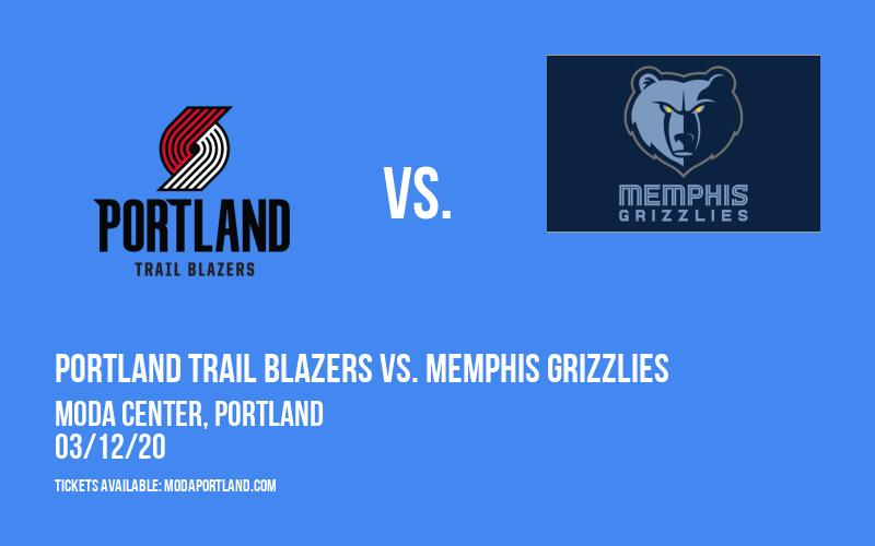 Portland Trail Blazers vs. Memphis Grizzlies at Moda Center