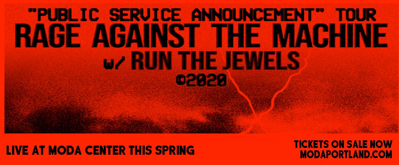 Rage Against The Machine & Run the Jewels [POSTPONED] at Moda Center