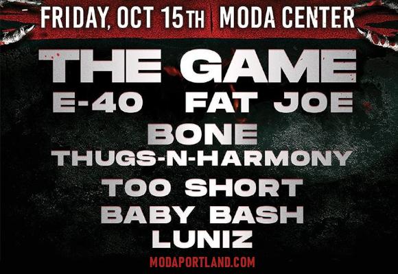 JAMN 107.5's  Boo Bomb: The Game, E-40, Fat Joe, Bone Thugs N Harmony & Too Short at Moda Center