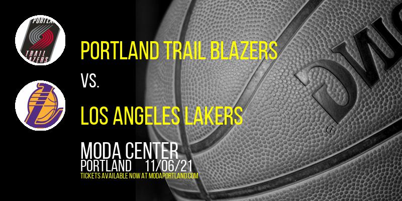 Portland Trail Blazers vs. Los Angeles Lakers at Moda Center
